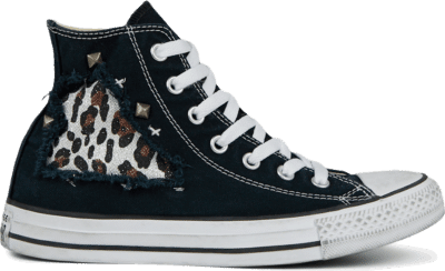 Converse CTAS CANVAS LTD HI BLACK STRATCHED Black Stratched Jungle 167401C