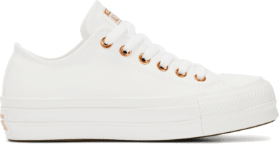 Converse Womens Platform Chuck Taylor All Star Low Top White 564670C