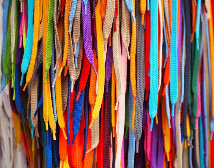 shoelaces kleur vrolijk veters