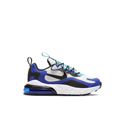 Nike Air Max 270 React White Hyper Blue Oracle Aqua (PS) BQ0102-105