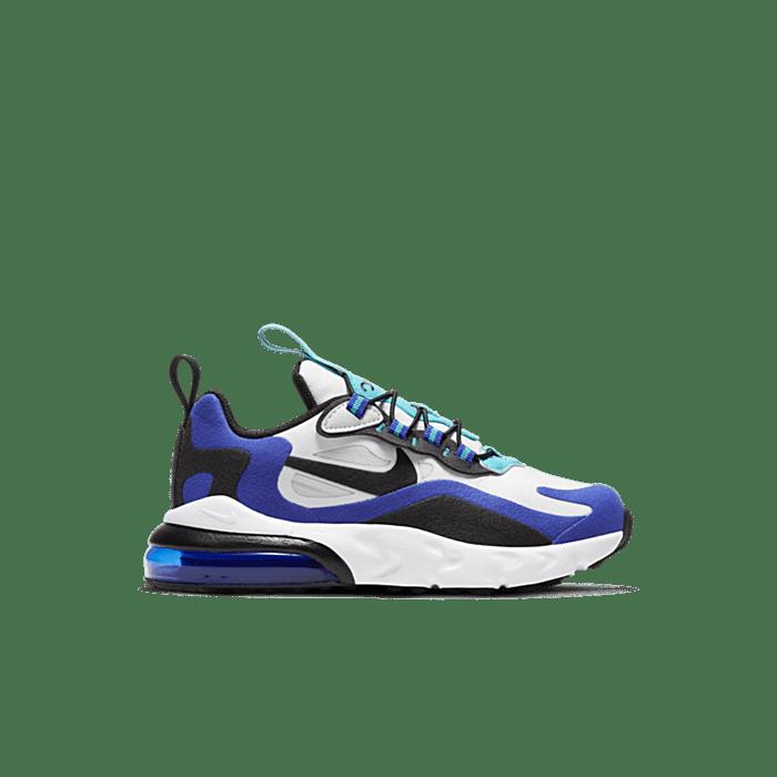 Nike Air Max 270 React White Hyper Blue Oracle Aqua (PS) BQ0102-105