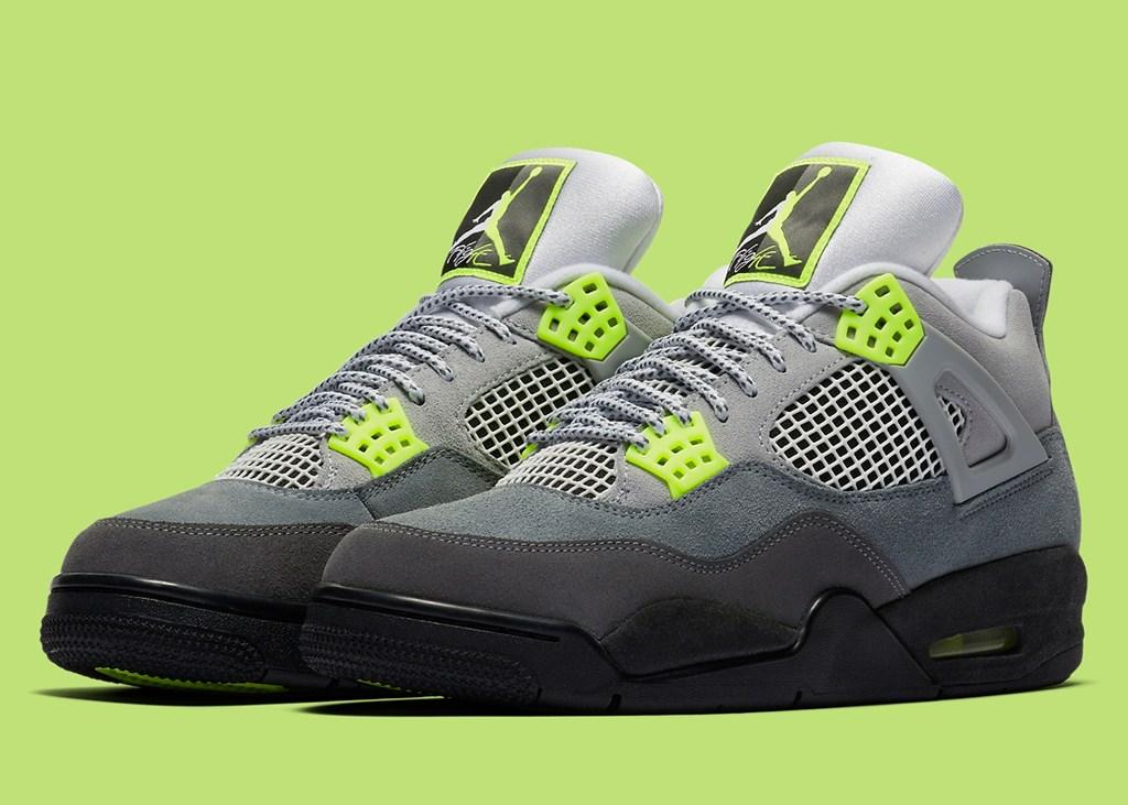 Officiële foto's van de nieuwe Air Jordan IV 'Neon'