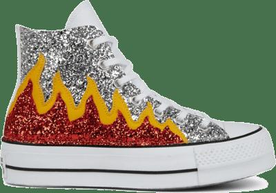 Converse Glitter Flames Platform Chuck Taylor All Star High Top voor dames Flame Glitter 567395C