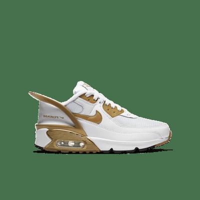Nike Air Max 90 Flyease White Gold (GS) CV0526-100