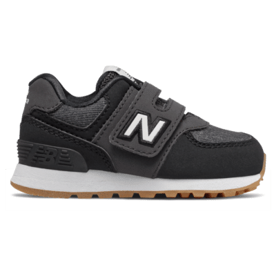 New Balance Hook and Loop 574  Black/White IV574DMK