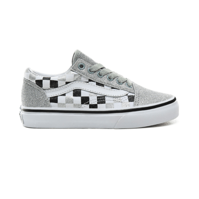 Vans Old Skool Kids 'Glitter Checkerboard' Silver VN0A4BUUV3J