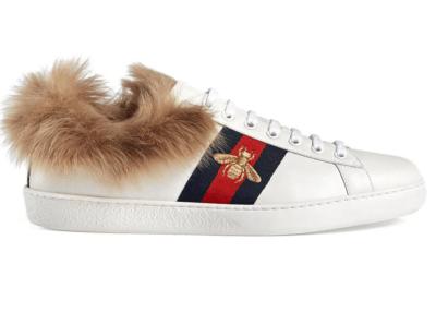 Gucci Ace Fur 496093 0FI50