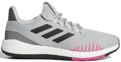 adidas Pulseboost HD Winter Grey Black Pink (W) FU7327
