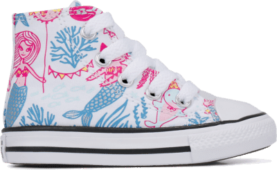 Converse Underwater Party Chuck Taylor All Star High Top voor peuters White/ Black 768094C