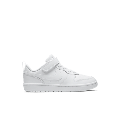 Nike Court Borough Low 2 PS 'Triple White' White BQ5451-100