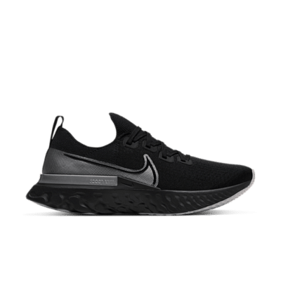 Nike React Infinity Run Black Metallic Silver CD4371-001