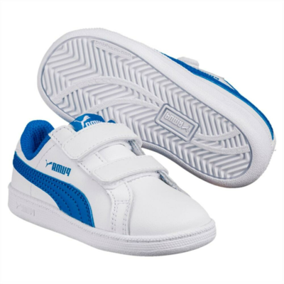 Puma Smash Leather V PS sportschoenen Wit / Blauw 361591_13