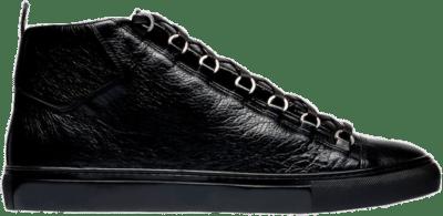 Balenciaga Arena High Shiny Black Leather 341760 WAD40 1000