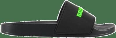 Balenciaga Pool Slide Black Fluo Green 565826W1S811030