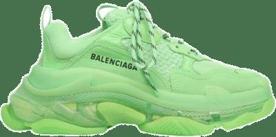 Balenciaga Triple S Soft Neon Green Clear Sole 541624W2CF13801