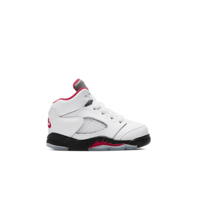 Air Jordan 5 'Fire Red' True White/Black/Metallic Silver/Fire Red 440890-102