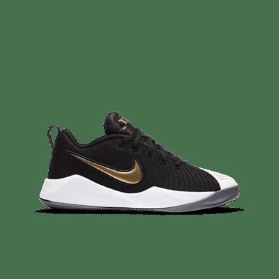 Nike Team Hustle Quick 2 Black Metallic Gold (GS) AT5298-010