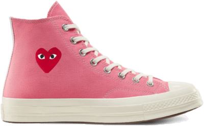 Converse Chuck Taylor All-Star 70s Hi Comme des Garcons Play Bright Pink 168301C