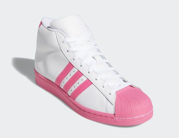 pink pro Adidas model