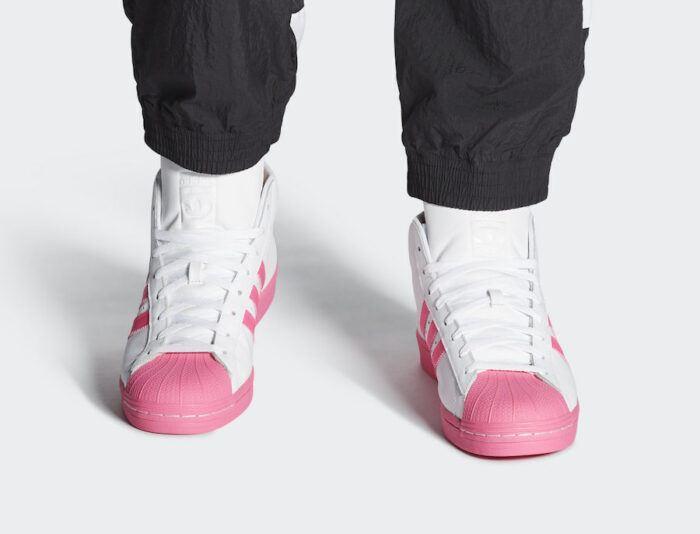adidas pro model superstar roze