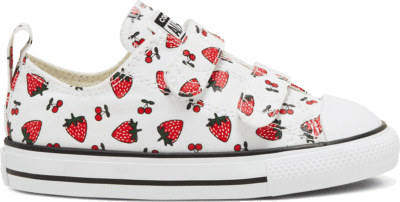 Converse Summer Fruits Chuck Taylor All Star Low Top voor peuters White/Garnet/Garnet 768175C