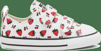 Converse Summer Fruits Chuck Taylor All Star Low Top voor peuters White/Garnet/Garnet 768175C