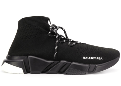 Balenciaga Speed Lace Up Black White Sole 587289 W1703