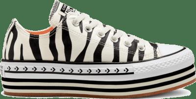 Converse Sunblocked Platform Chuck Taylor All Star Low Top voor dames Egret/Black/Gum 567865C