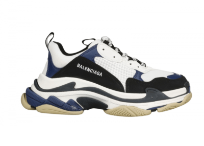 Balenciaga Triple S White Navy Black 536737 W09OM 9087