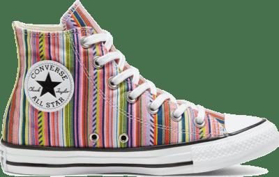 Converse Unisex Summer Stripes Chuck Taylor All Star High Top White/ Black 168279C