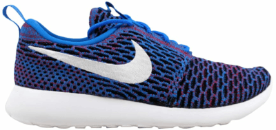 Nike Roshe One Flyknit Photo Blue/White-University Red-Black (W) 704927-404