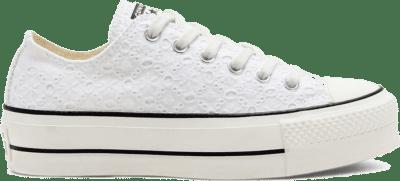 Converse Boho Mix Platform Chuck Taylor All Star Low Top voor dames White/ Black 568276C