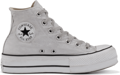 Converse Chuck Taylor All Star Lift Smoked Canvas High Top Light Smoke In 569883C