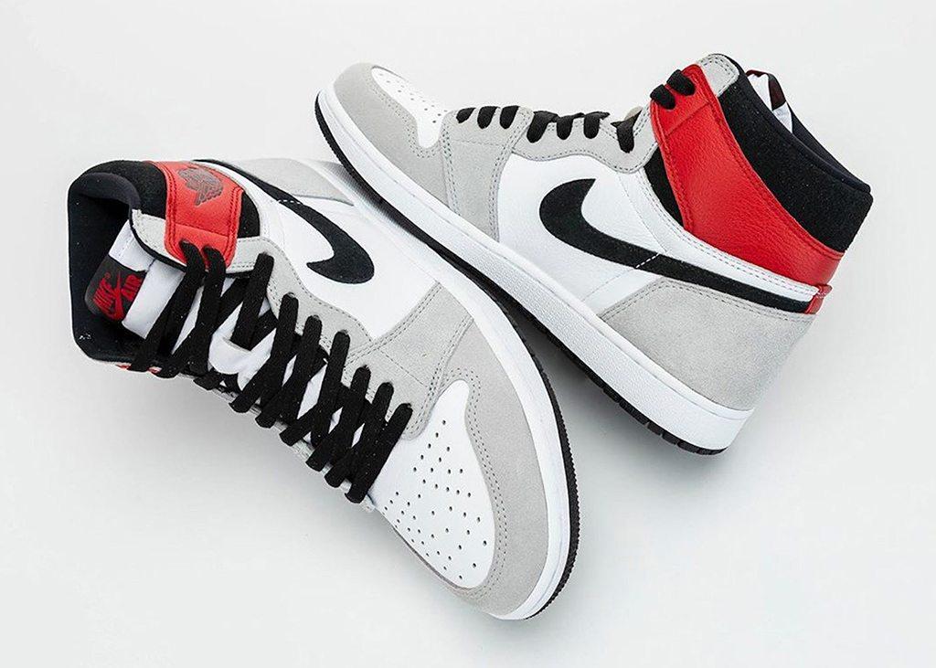 Materialen om van te smullen op de Air Jordan 1 Smoke Grey
