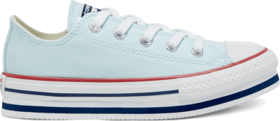 Converse Everyday Ease Platform Chuck Taylor All Star Low Top voor kids Agate Blue/White/Midnight Navy 668282C