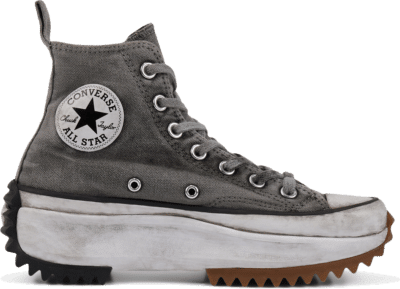 Converse Run Star Hike Smoke In High Top White Smoke In 168298C