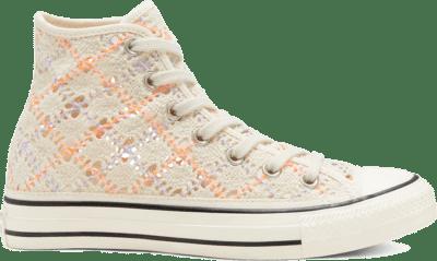 Converse Boho Crochet Chuck Taylor All Star High Top voor dames Black 568277C