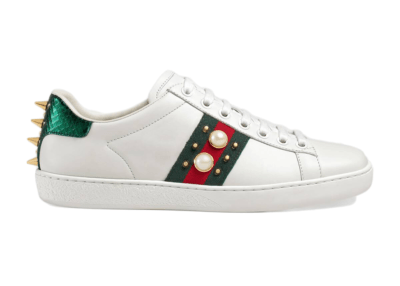 Gucci Ace Studded Pearl (W) _431887 A38G0 9064