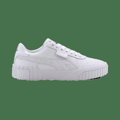 Puma Cali Snake sportschoenen voor Dames Zilver / Wit 372096_01