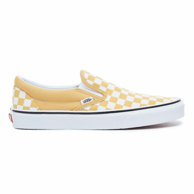 Vans Classic Slip On 'Ochre Checkerboard' Yellow VN0A38F7QCP