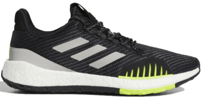 adidas Pulseboost HD Winter Black Grey Solar Yellow FU7322