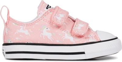 Converse Little Kids Unicons Chuck Taylor All Star Hook-and-Loop Low Top Coastal Pink/White/Black 767380C