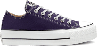 Converse Seasonal Color Platform Chuck Taylor All Star Low Top voor dames Japanese Eggplant/White/Black 567682C