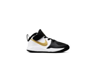 Nike Team Hustle D 9 Black Metallic Gold (PS) AQ4225-004