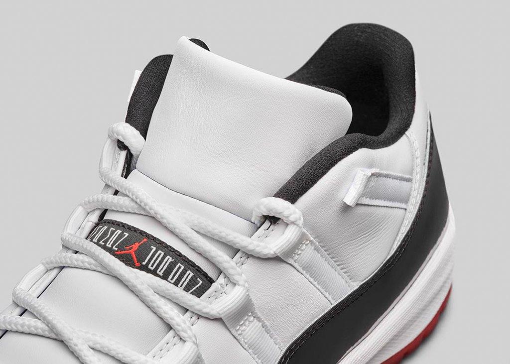 Nike combineert graag, zo ook met de Air Jordan 11 Low white/bred