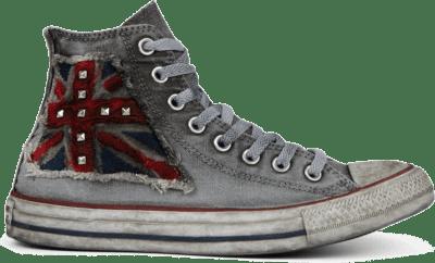 Converse CTAS CANVAS LTD HI UK FLAG DISTRESSED Red/ Blue 167388C