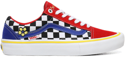 Vans Brighton Zeuner x Old Skool Pro 'Red Checker Blue' Red VN000ZD4W89