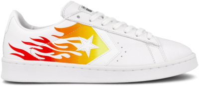Converse Pro Leather Low 'Archival Flame Print' White 167935C
