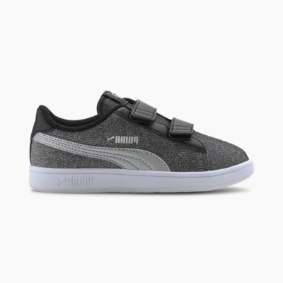 Puma Smash v2 Glitz Glam Kid sportschoenen Zilver / Zwart 367378_14