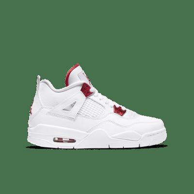 Air Jordan 4 'Red Metallic' White/Metallic Silver/University Red 408452-112